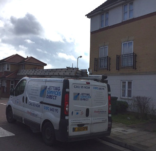 Investigating blocked sink and drain in Battery Road, Woolwich SE28