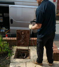 Drain excavation in Woolwich and Abbey Wood